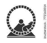 hamster wheel glyph icon.... | Shutterstock .eps vector #772163014