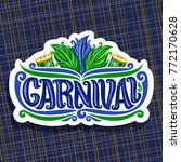 vector logo for carnival ... | Shutterstock .eps vector #772170628