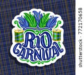 vector logo for rio carnival ... | Shutterstock .eps vector #772170658