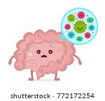 microscopic bad bacterias.... | Shutterstock .eps vector #772172254
