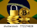 physical version of bitcoin ... | Shutterstock . vector #772174828