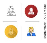 office worker icon. flat design ... | Shutterstock .eps vector #772175530