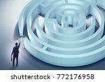 businessman is trying to escape ... | Shutterstock . vector #772176958