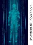 humanoid android man standing... | Shutterstock .eps vector #772177774