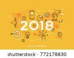 infographic concept  2018  ... | Shutterstock .eps vector #772178830