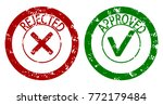 approved and rejected rubber... | Shutterstock .eps vector #772179484