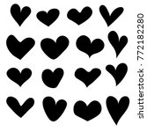hand drawn hearts set isolated. ... | Shutterstock .eps vector #772182280