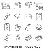 gas station or gas pump icons... | Shutterstock .eps vector #772187638