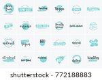 organic food  farm fresh and... | Shutterstock .eps vector #772188883
