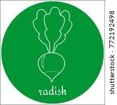 radish icon white line art  ... | Shutterstock .eps vector #772192498