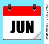 june calendar icon.vector...
