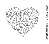 happy valentines day vector... | Shutterstock .eps vector #772197034