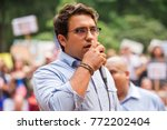 an activist for milenio.org... | Shutterstock . vector #772202404