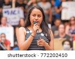 a dreamer activist speaks at a... | Shutterstock . vector #772202410