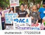 activists signs express support ... | Shutterstock . vector #772202518