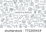 gadget and devices banner. thin ... | Shutterstock .eps vector #772205419