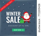 winter sale square social media ... | Shutterstock .eps vector #772205428