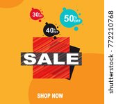 sale banner template. sale ... | Shutterstock .eps vector #772210768