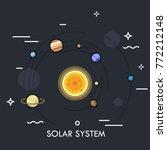 planets orbiting sun. concept... | Shutterstock .eps vector #772212148