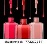 nail polish vector background.... | Shutterstock .eps vector #772212154