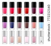 nail polish bottles set.... | Shutterstock .eps vector #772212160