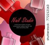nail salon advertising template.... | Shutterstock .eps vector #772212163