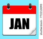 january calendar icon.vector...