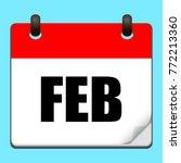 february calendar icon.vector...