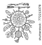 native american indian dream...   Shutterstock .eps vector #772213378