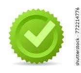 green check mark emblem vector... | Shutterstock .eps vector #772214776