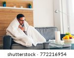 young man suffering from cold... | Shutterstock . vector #772216954
