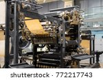 old press printing machine... | Shutterstock . vector #772217743