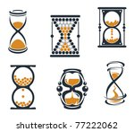 hourglass symbols and icons for ... | Shutterstock .eps vector #77222062