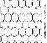 chemistry. seamlessly vector... | Shutterstock .eps vector #772224316