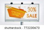 big billboard sale banner with...   Shutterstock .eps vector #772230673
