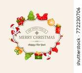 merry christmas light greeting...   Shutterstock .eps vector #772230706