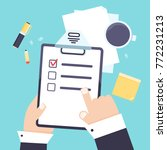 flat modern agenda list... | Shutterstock .eps vector #772231213