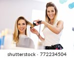 picture showing adult woman at... | Shutterstock . vector #772234504