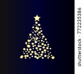 christmas tree with stars   Shutterstock .eps vector #772235386