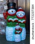 Small photo of Snowman Choir Family Decoration