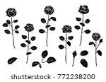 collection from silhouettes... | Shutterstock .eps vector #772238200