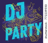 dj party  design for your... | Shutterstock .eps vector #772239550