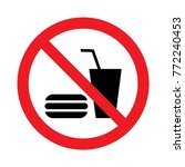 no eating or drinking logo | Shutterstock .eps vector #772240453