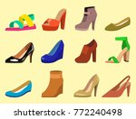 womens shoes vector flat... | Shutterstock .eps vector #772240498