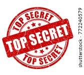 top secret grunge stamp vector... | Shutterstock .eps vector #772240579