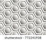 seamless pattern of hexagons   Shutterstock .eps vector #772241938