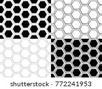 seamless pattern of hexagons | Shutterstock .eps vector #772241953