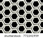 seamless pattern of hexagons | Shutterstock .eps vector #772241959