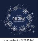 vector illustration of falling... | Shutterstock .eps vector #772245160