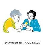 caring for the elderly... | Shutterstock .eps vector #772252123